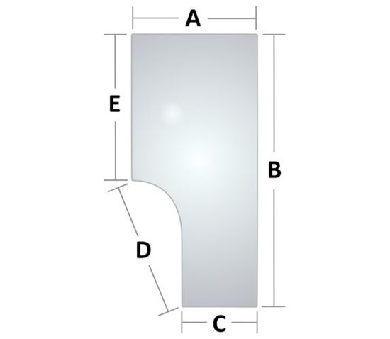 Picture of Glass, Door To Fit Ford/New Holland® - NEW (Aftermarket)